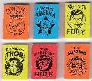 Micro-Comics sold by Marvel in capsule vending machines in the late 60's