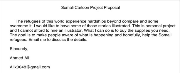 Somali Cartoon Project Proposal